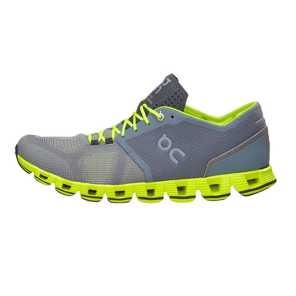 ON FOOTWEAR Mens Cloud X Grey/Neon Running Shoe (20.4300)