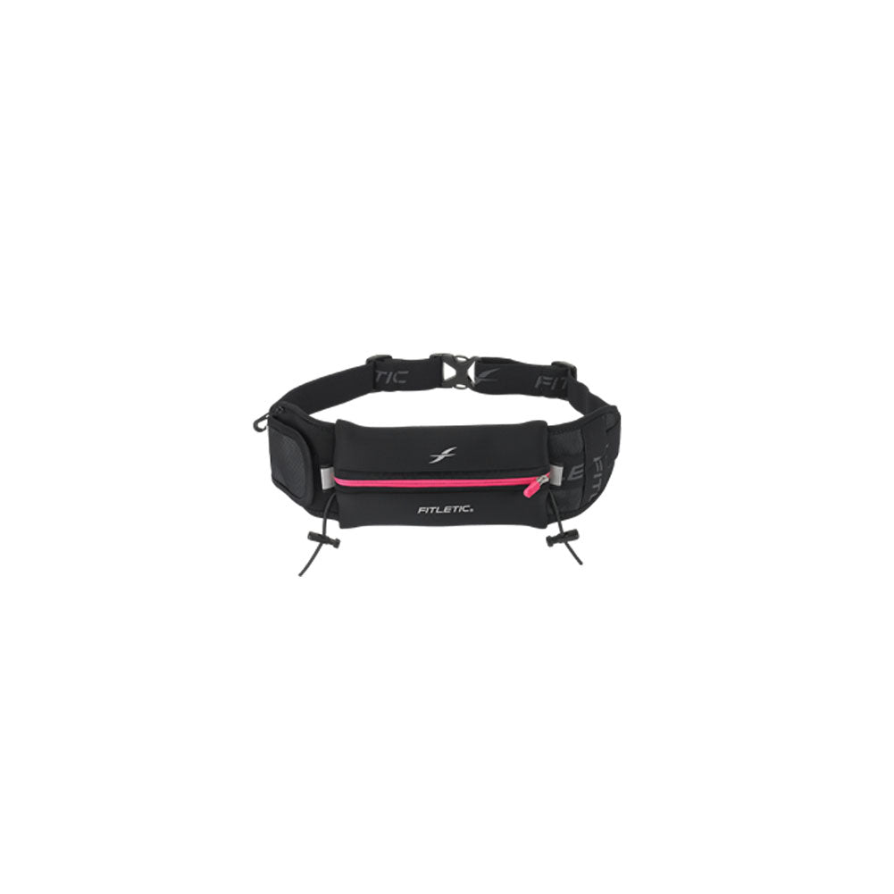 FITLETIC Ultimate II Black-Pink Running Belt (N04-08)