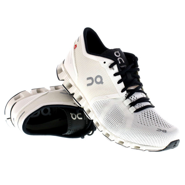 ON FOOTWEAR Womens Cloud X White/Black Running Shoes (20.0007)