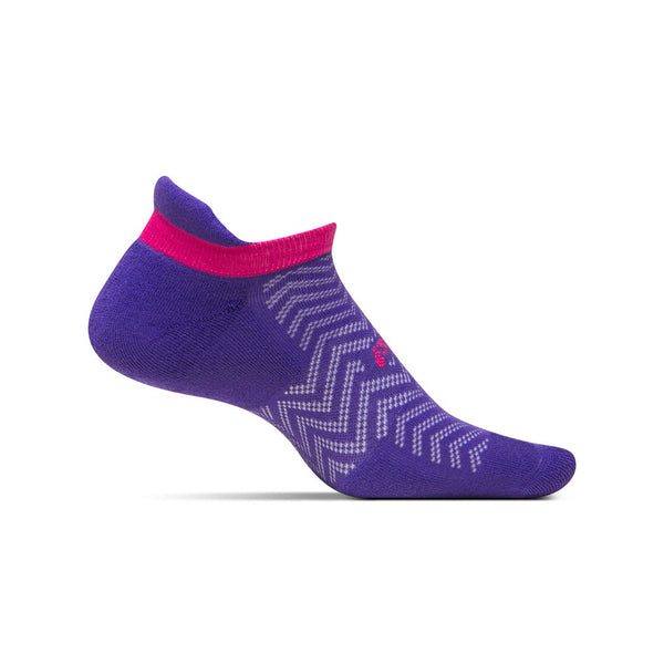 FEETURES HP Cushion Womens Cheveron Iris Running Socks (FA50092)