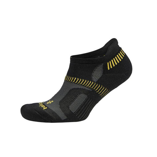 BALEGA Hidden Contour Black/Yellow Running Socks (8196-0300)