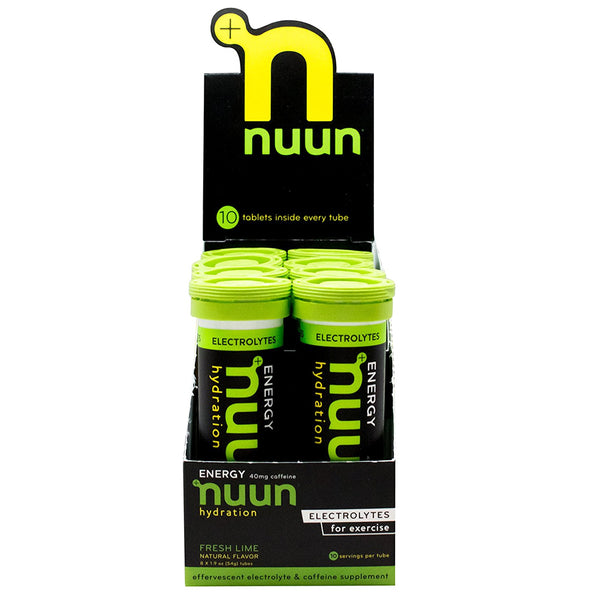 NUUN Energy Fresh Lime Box of 8 Tubes Eletrolyte Tablets (1170108)