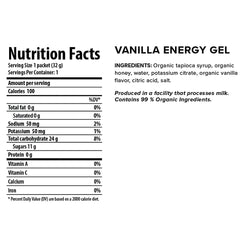 HONEY STINGER Organic Vanilla 24Pk Energy Gel 70424