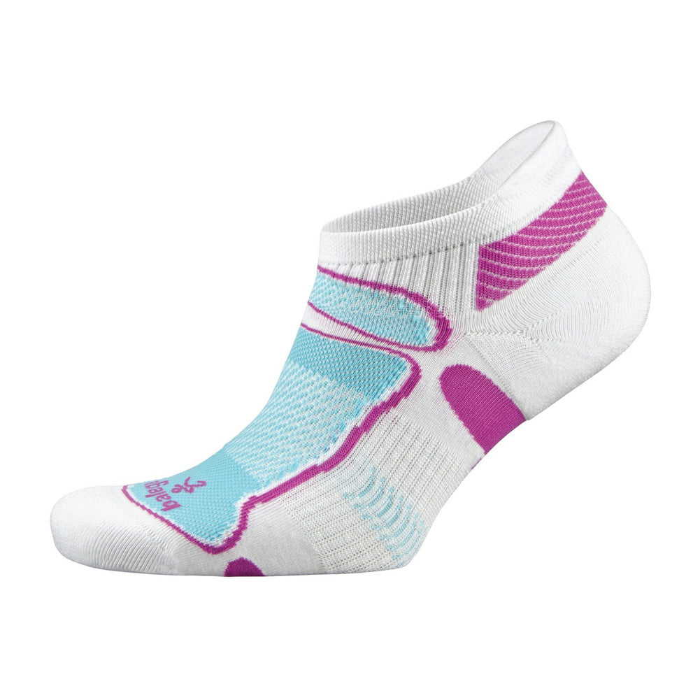 Balega Ultra Light No Show Unisex White & Berry & Aqua Running Socks (8924-2680)