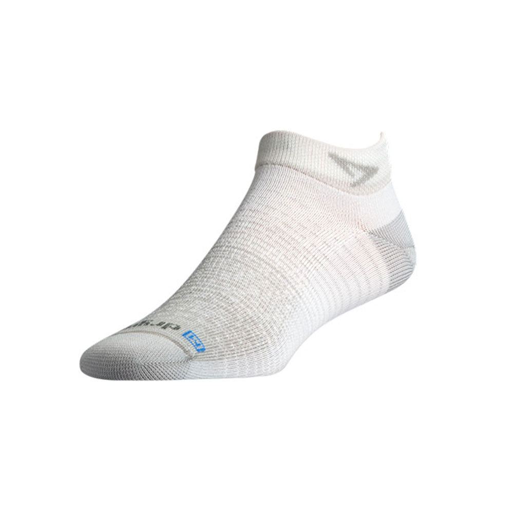 DRYMAX Thin Unisex Mini Crew Gray/White Running Socks (DMX-RUN-1371-P)