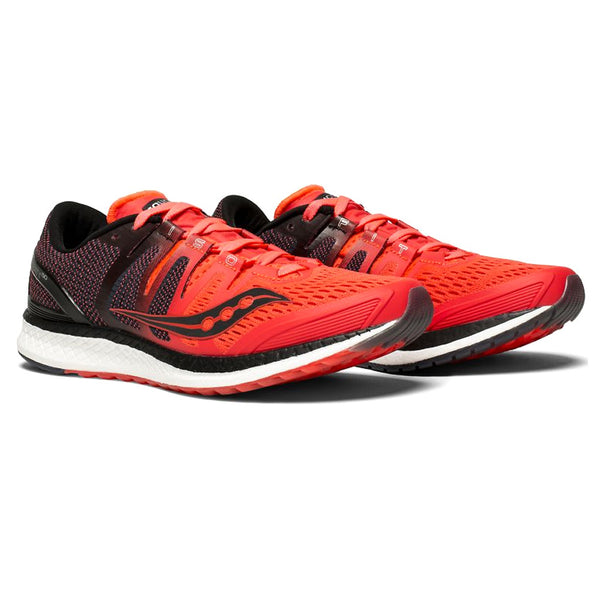 SAUCONY Women's Liberty ISO ViZiRed Black Running Shoe (S10410-2-600)