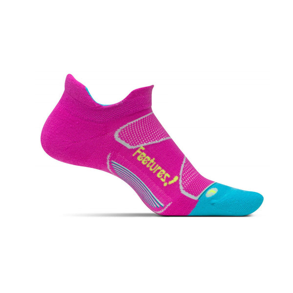 FEETURES Elite Max Cushion Womens Wisteria/Reflector Running Socks (EC50073)