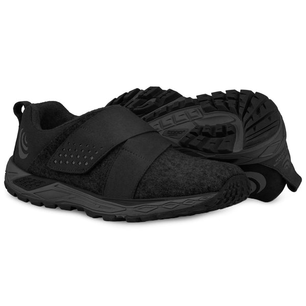 TOPO ATHLETIC Womens Rekovr Charcoal/Black Running Shoe (W025-CHABLK)