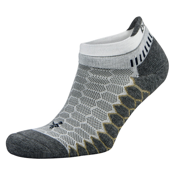 BALEGA Silver Unisex White & Grey Running Socks (8073-0339)