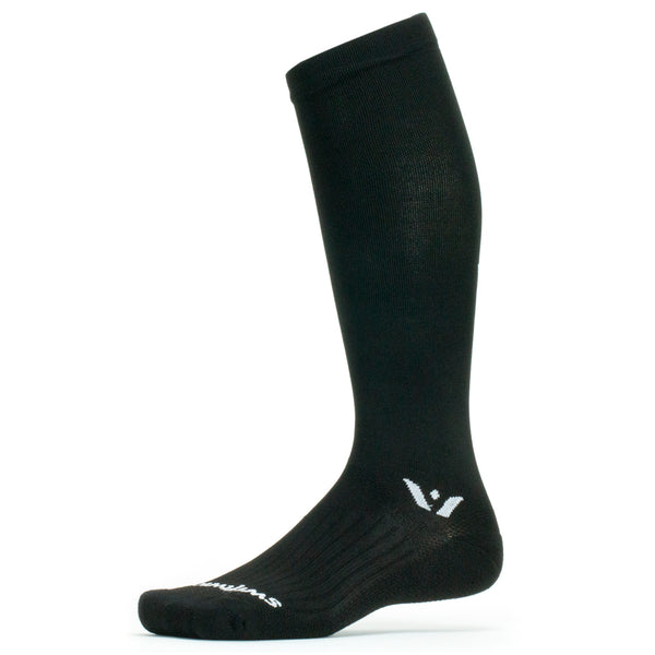 Swiftwick Aspire Twelve Black Running Socks (TC010ZZ)