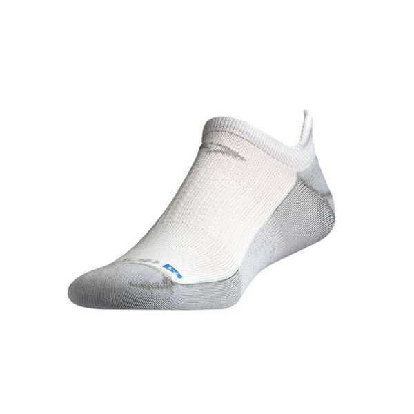 DRYMAX Run Unisex No Show Tab White/Gray Running Socks (DMX-RUN-0753-P)