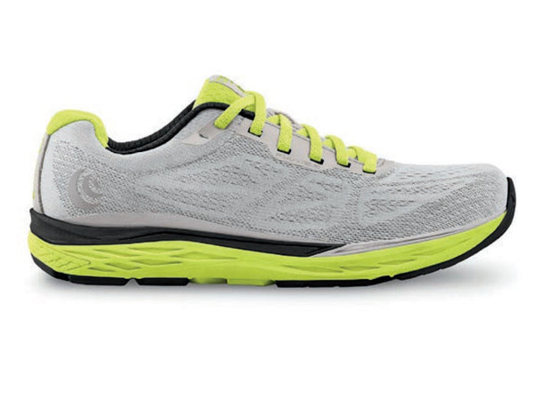 TOPO ATHLETIC Men s Fli-Lyte 3 Silver/Lime Running Shoes (M030-SLVLIM)