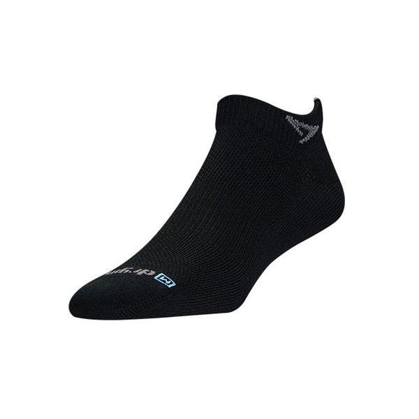 DRYMAX Thin Unisex Mini Crew Black Running Socks (DMX-RUN-1356-P)