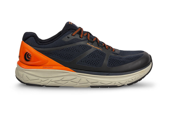 TOPO ATHLETIC Mens Phantom Navy/Orange Running Shoe (M032-NAVORG)
