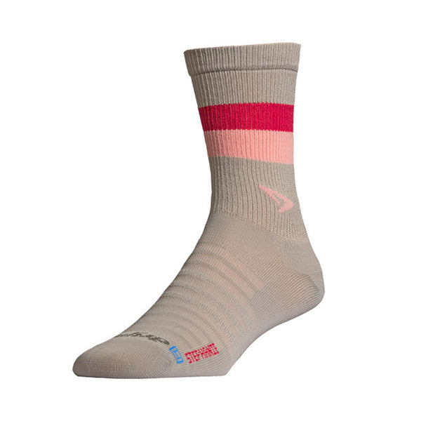 DRYMAX Hyper Thin Unisex Stephanie Crew Anthracite/Pink Running Socks (DMX-RUN-1255-P)