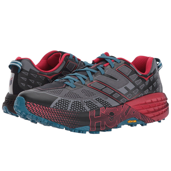 HOKA ONE ONE Men's Speedgoat 2 Black True Red Shoe (1016795-BTRRD)