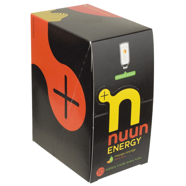NUUN Energy Mango Orange Box of 8 Tubes Eletrolyte Tablets (1170408)