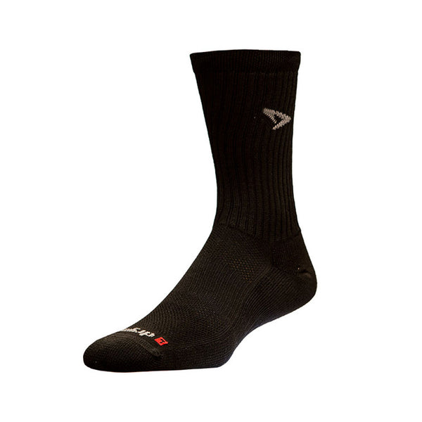 DRYMAX Tennis Unisex Crew Black Running Socks (DMX-TEN-2022-P)