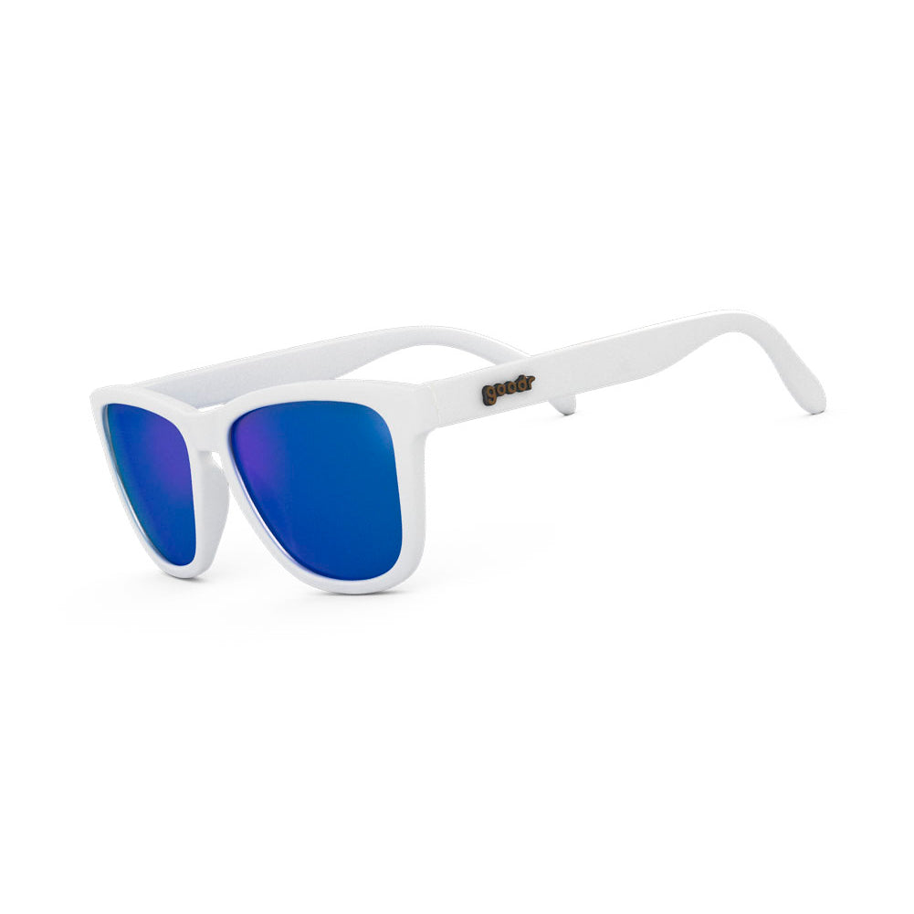 GOODR Iced by Yetis White with Blue Lens Sunglasses (OG-WH-BL1)