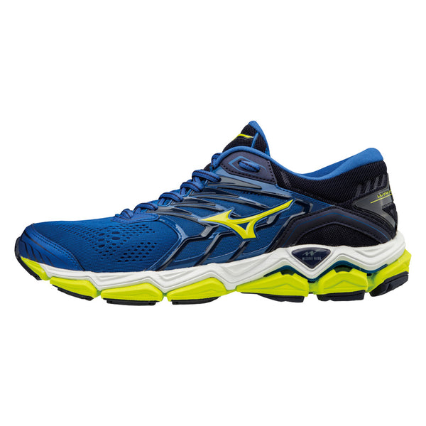 MIZUNO Mens Wave Horizon 2 Surf The Web/Lime Punch Shoes (410981-5E4I)