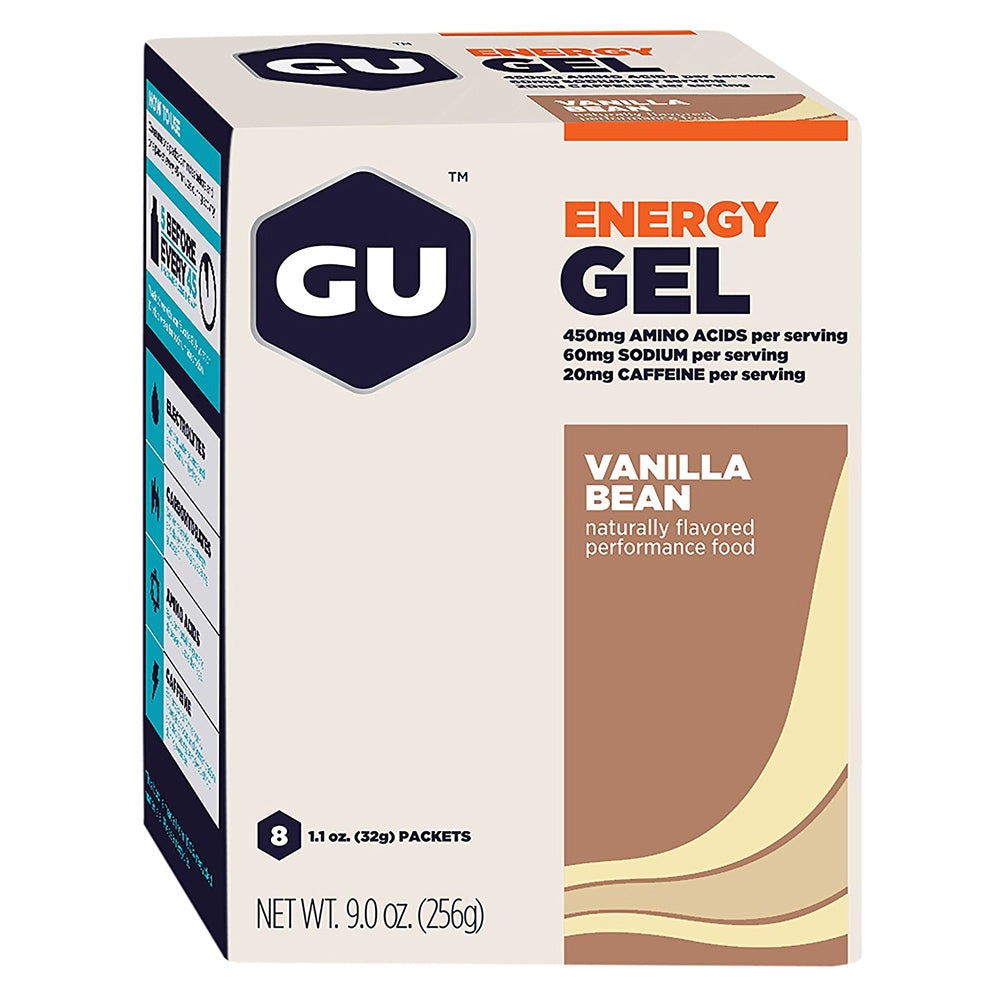 GU ENERGY Original Sports Nutrition Vanilla Bean 8-Pack Energy Gel (123032)