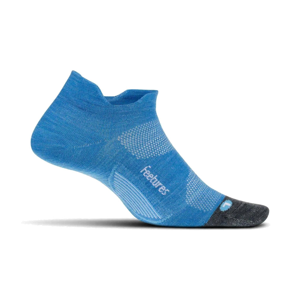 FEETURES Merino 10 Light Cushion No Show Tab Aurora Blue Socks (EM50240)