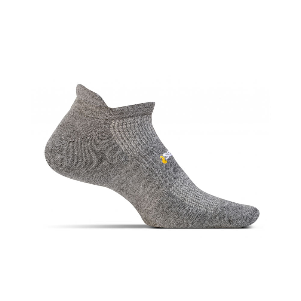 FEETURES HP Cushion Unisex Heather Gray Running Socks (FA5058)