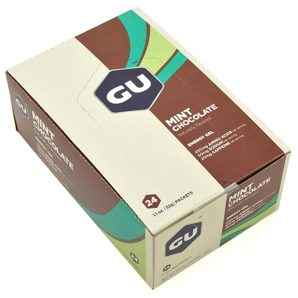 GU ENERGY Mint Chocolate 24-Pack Energy Gel 123943