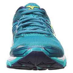 MIZUNO Womens Wave Horizon Tile Blue/Safety Yellow/Peacoat Running Shoes (410874-5930)