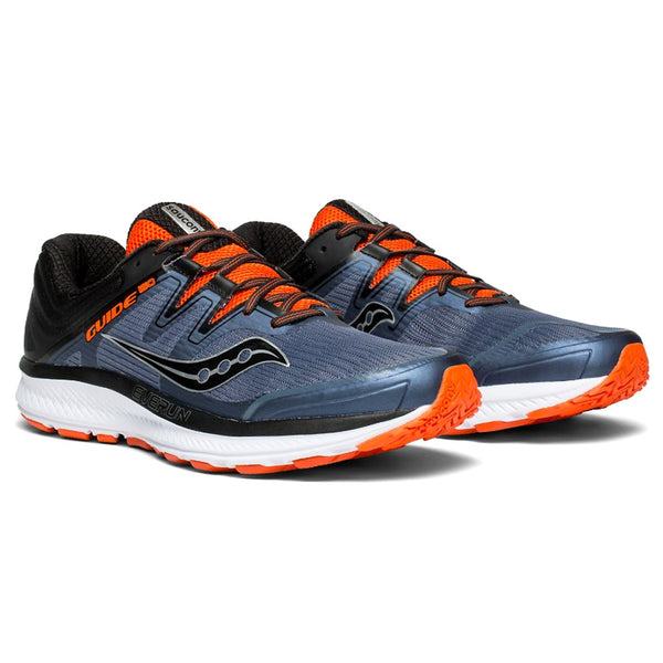 SAUCONY Men's Guide ISO Grey Black Orange Running Shoe (S20415-5-020)