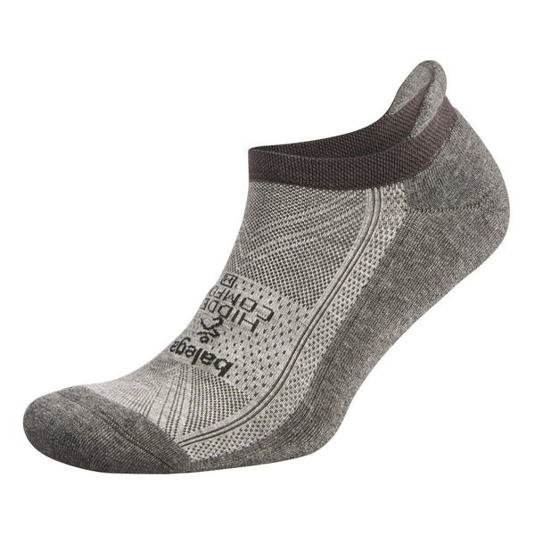 BALEGA Hidden Comfort Unisex Mid Grey & Carbon Running Socks (8025-3339)
