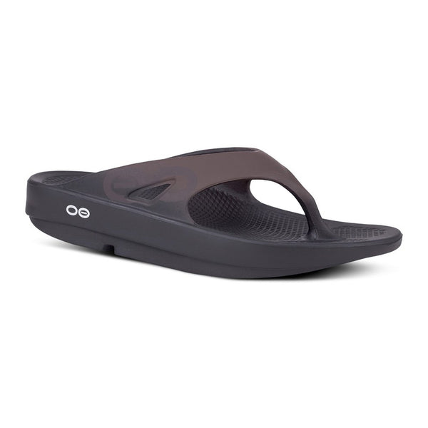 OOFOS OOriginal Sport Thong Brown Sandals (1001BROWN)