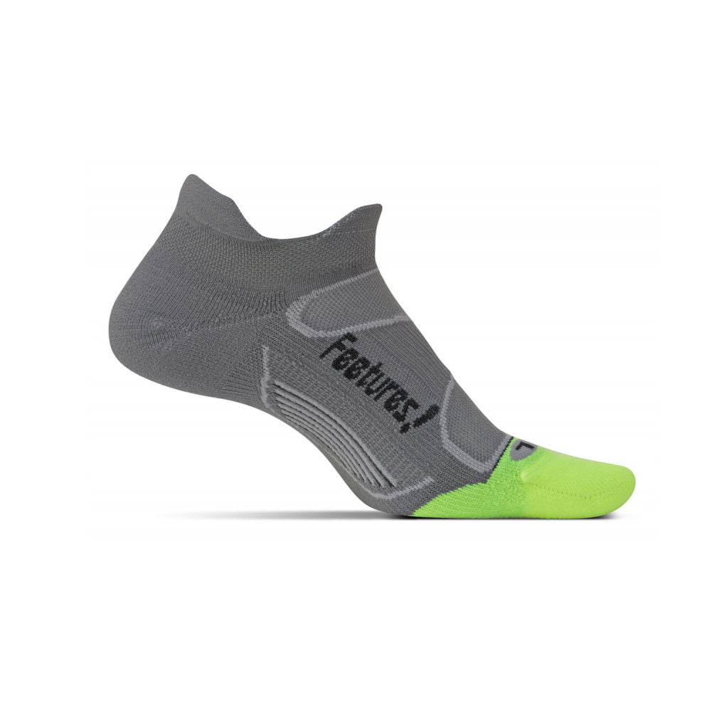 FEETURES Elite Light Cushion Unisex Graphite/Black Running Socks (E50046)