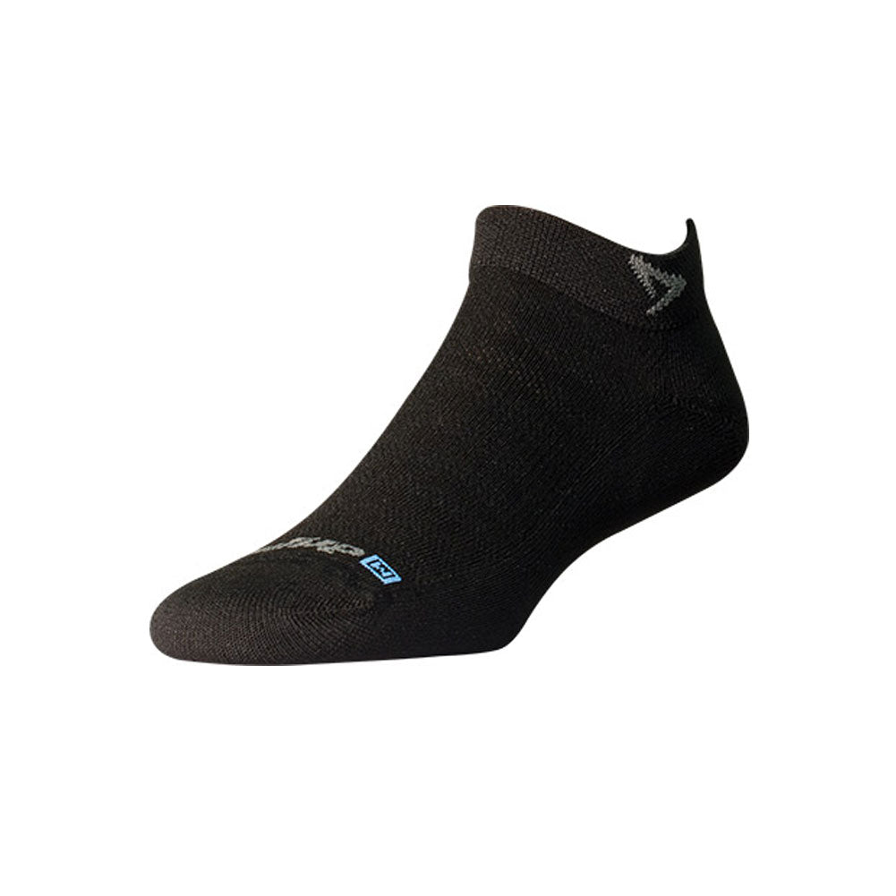 DRYMAX Lite-Mesh Unisex Mini Crew Black Running Socks (DMX-RUN-1042-P)
