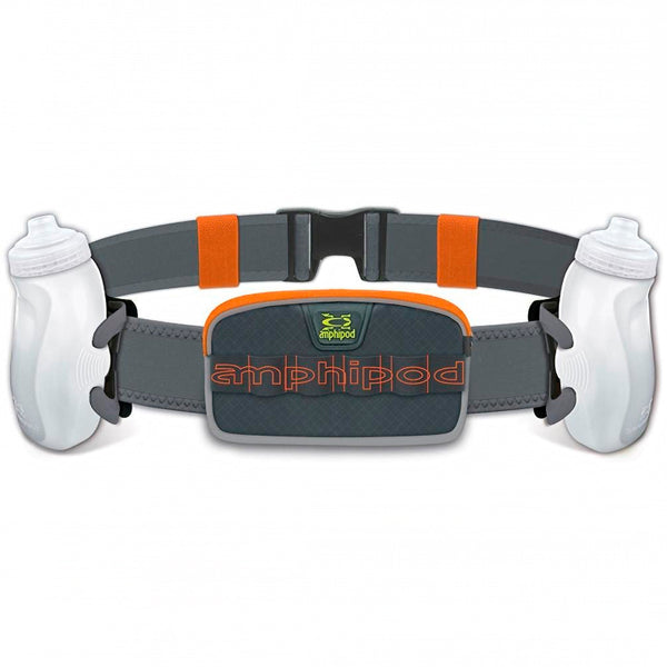 AMPHIPOD RunLite Xtech 2 Plus Charcoal/Orange Juice Hydration Belts (10002-10-OR)