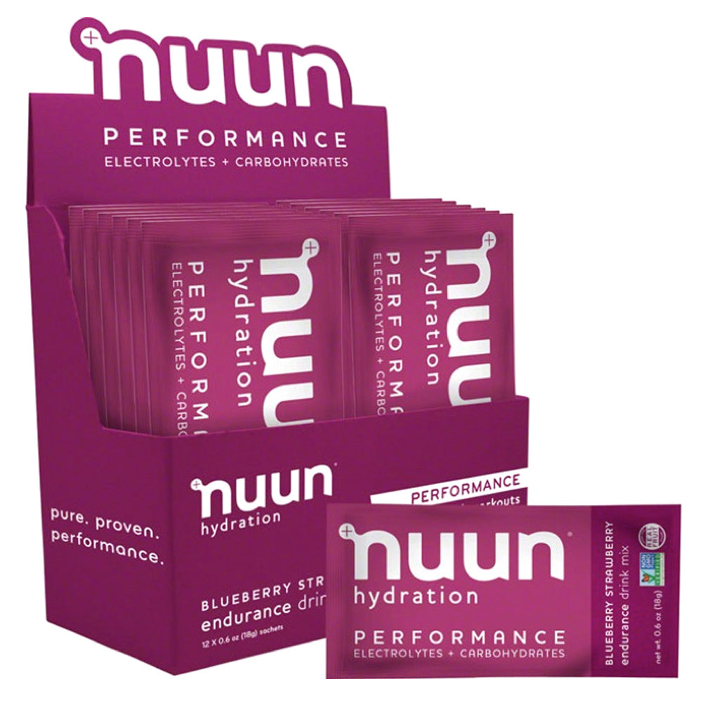 NUUN Performance Blueberry Strawberry Box of 12 Sachets Drink Mix (1190112)