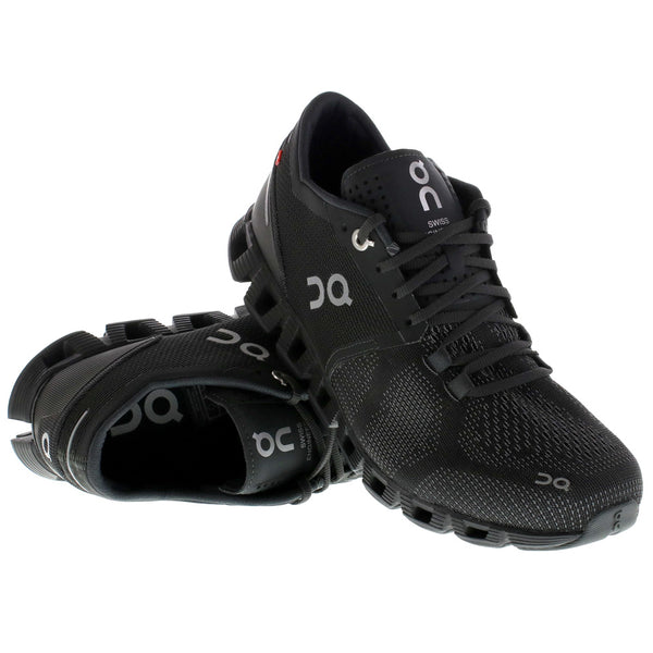 ON FOOTWEAR Womens Cloud X Black/Asphalt Running Shoes (20.4006)