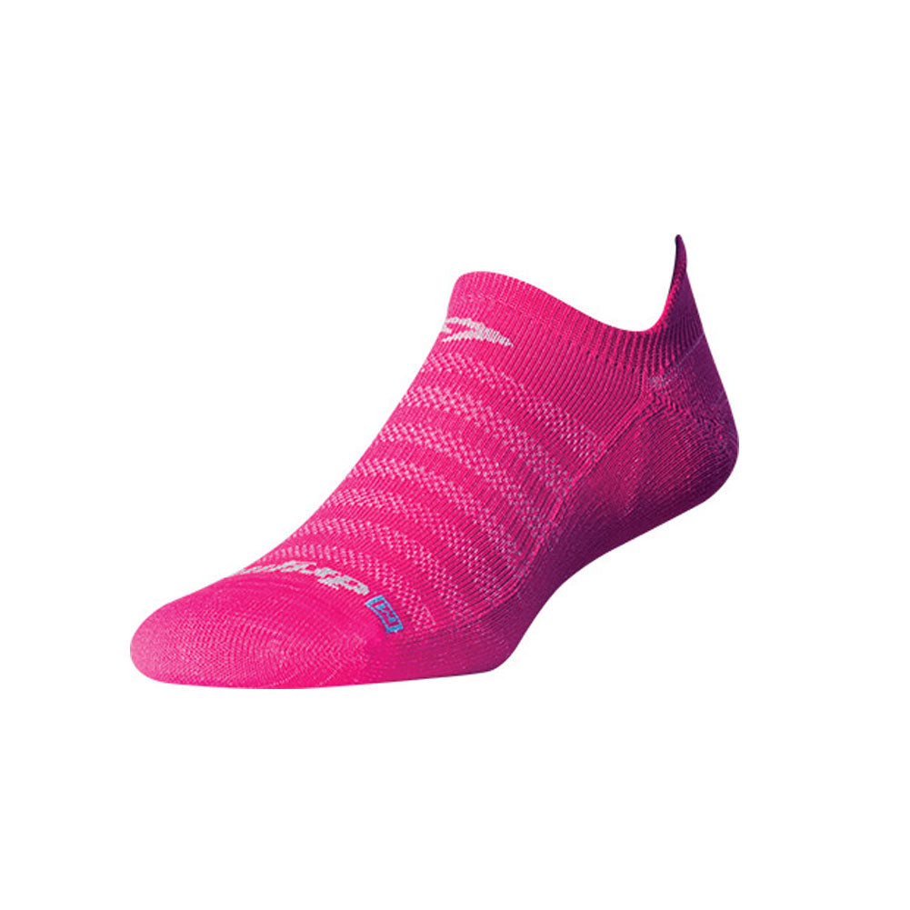 DRYMAX Lite-Mesh Unisex No Show Tab October Pink Running Socks (DMX-RUN-1081-P)