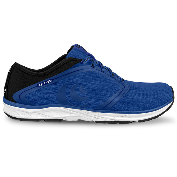 TOPO ATHLETIC Womens ST-3 Blue/White Running Shoe (W026-BLUWHT)