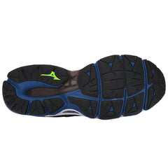 MIZUNO Mens Wave Horizon Dark Shadow/True Blue/Jasmine Green Running Shoes (410873-985R)