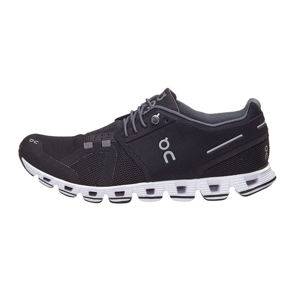 ON FOOTWEAR Womens Cloud Black/White Running Shoe (19.0001)