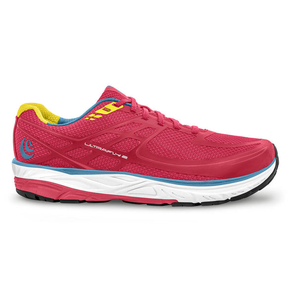 TOPO ATHLETIC Womens Ultrafly 2 Pink/Yellow Running Shoe (W024-PNKYEL)