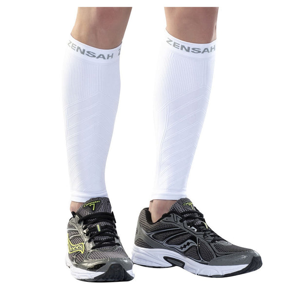 ZENSAH Compression White Leg Sleeves (6055-101)
