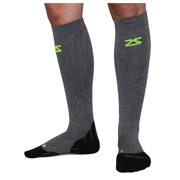 ZENSAH Tech+ Compression Heather Grey Socks (8532-141)