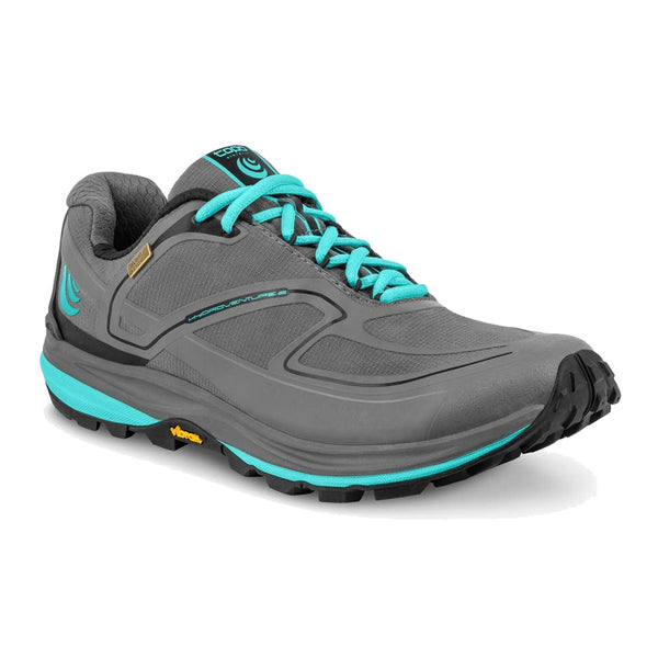 TOPO ATHLETIC Womens Hydroventure 2 Charcoal/Sky Shoe (W027-CHASKY)