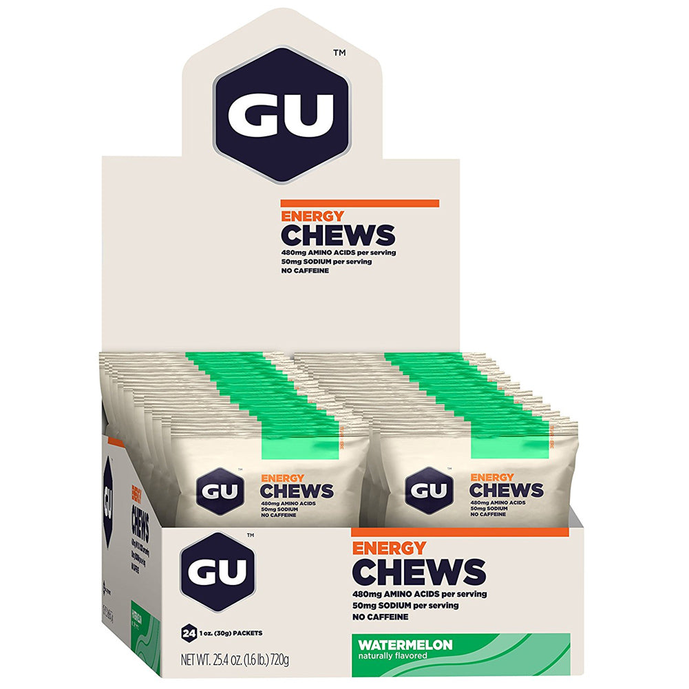 GU ENERGY Watermelon Chews 24-Pack Pouch (123083)