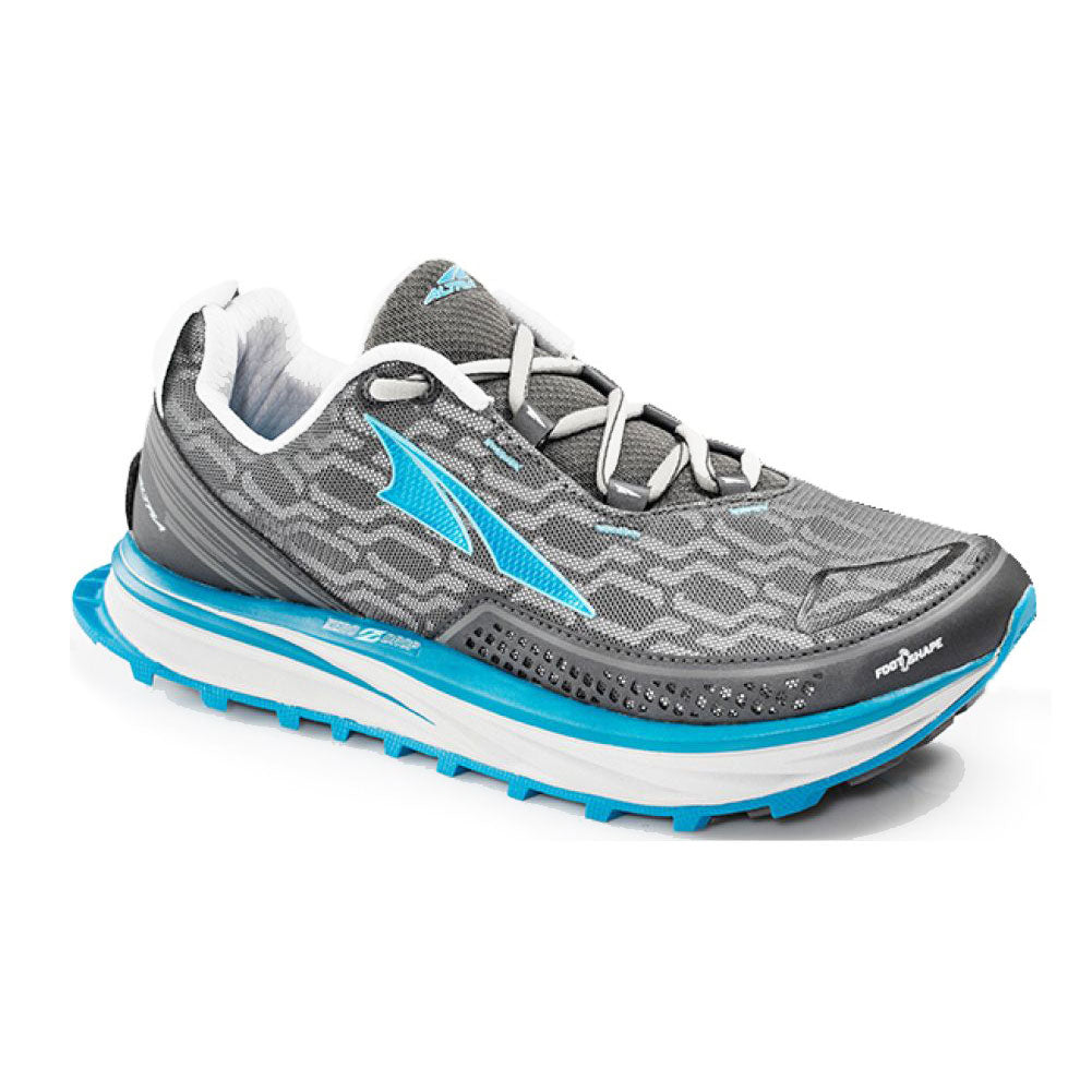 ALTRA Womens Timp IQ Charcoal-Blue Trail Running Shoes (AFW1757Q-3)