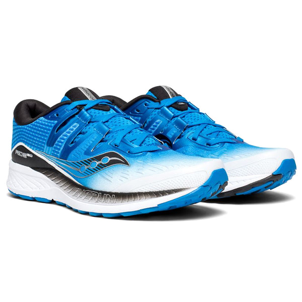 SAUCONY Men's Ride ISO White Black Blue Running Shoe (S20444-1-100)