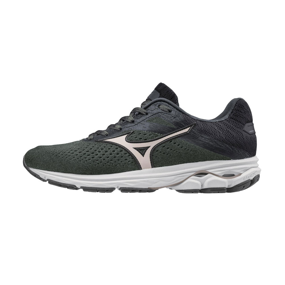 MIZUNO Womens Wave Rider 23 Beetle/Rose Gold Running Shoes (411114-4K7E)
