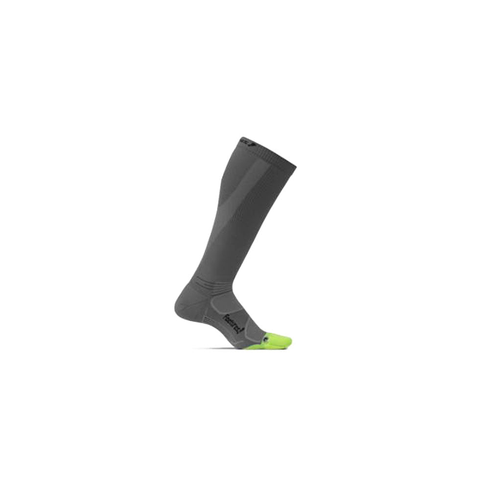 FEETURES Elite Light Cushion Unisex Graphite/Black Running Socks (PC60079)